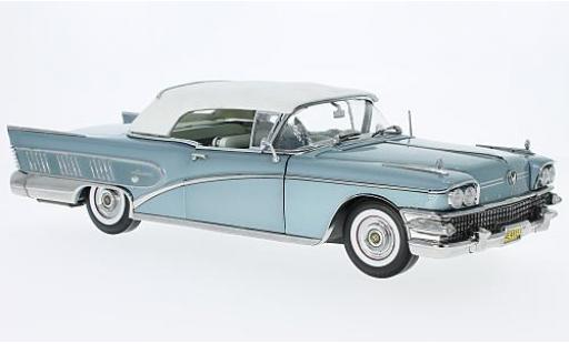 Buick Limited 1/18 Sun Star Convertible metallise bleue 1958 fermé miniature