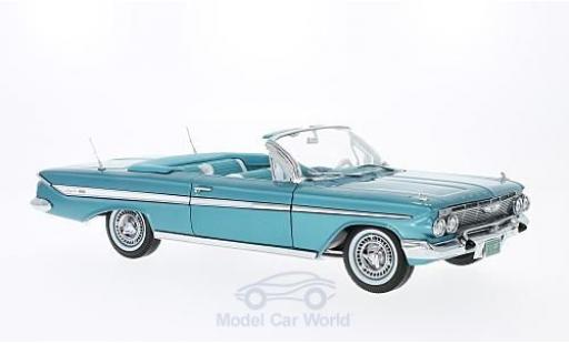 Chevrolet Impala 1961 1/18 Sun Star Convertible metallic-türkis 1961 miniature