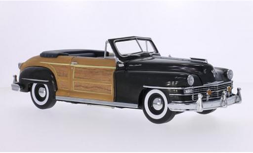 Chrysler Town & Country 1/18 Sun Star metallise grise/Holzoptik 1948 Verdeck ouvert miniature