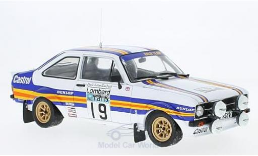 Ford Escort 1/18 Sun Star MK II RS 1800 No.19 Rothmans Rallye WM RAC Rallye 1980 mit Decals T.Mäkinen/M.Holmes miniature
