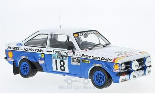 Ford Escort 1/18 Sun Star MK II RS 1800 RHD No.18 Rallye WM RAC Rallye 1980 J.Taylor/P.Short miniature