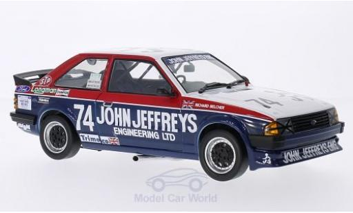 Ford Escort MKI 1/18 Sun Star MKIII 1600i RHD No.74 John Jeffreys Engineering BTCC R.Belcher 1985 miniature
