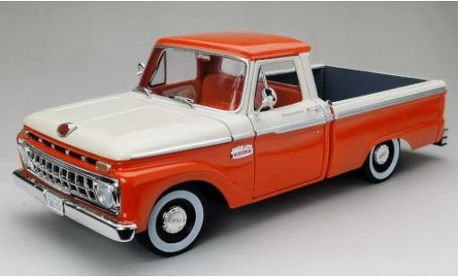 Ford F-1 1/18 Sun Star 00 Custom Cab Pickup orange/blanche 1965 miniature