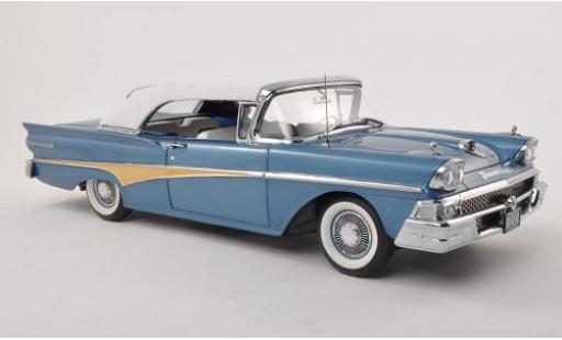 Ford Fairlane 1/18 Sun Star 500 Convertible blanche/bleue 1958 Verdeck fermé miniature