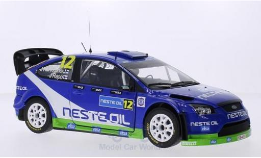 Ford Focus 1/18 Sun Star RS WRC08 No.12 M-Sport Neste Oil Rally Finnland 2010 J.Kankkunen/J.Repo miniature