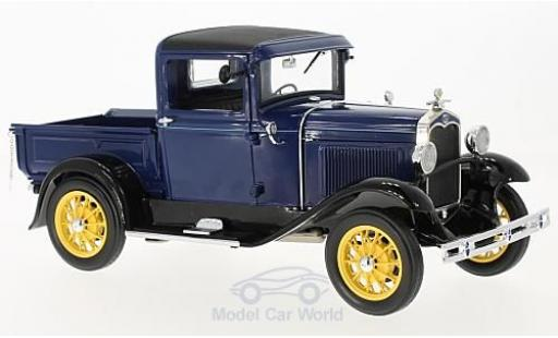 Ford Model A 1/18 Sun Star Pick Up bleue/noire 1931 miniature