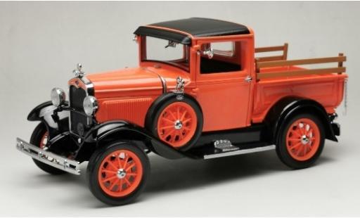 Ford Model A 1/18 Sun Star Pick Up orange/noire 1931 miniature