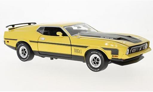 Ford Mustang 1/18 Sun Star Mach I amarillo/negro 1971 coche miniatura