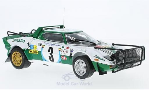 Lancia Stratos 1/18 Sun Star HF Rally No.3 Rallye WM Safari Rallye 1975 S.Munari/L.Drews miniature