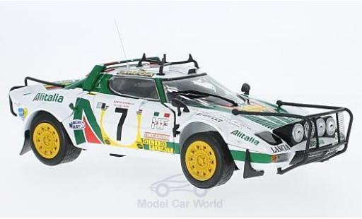 Lancia Stratos 1/18 Sun Star HF Rally No.7 Alitalia Rallye WM Safari Rallye 1977 S.Munari/P.Sodano ohne Vitrine miniature