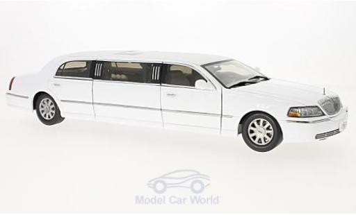 Lincoln Town Car 1/18 Sun Star Limousine blanche 2003