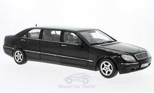 Mercedes Classe S 1/18 Sun Star Pullman negro 2000 miniatura