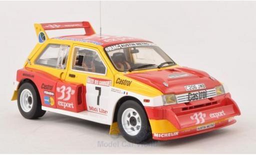 MG Metro 1/18 Sun Star 6R4 No.7 33 Export Rallye des Garrigues-Languedoc-Roussillon 1986 D.Auriol miniature