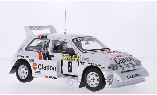 MG Metro 1/18 Sun Star 6R4 No.8 Clarion 1000 Lakes Rallye 1986 P.Eklund/D.Whittock miniature