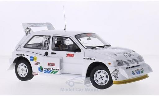 MG Metro 1/18 Sun Star 6R4 blanche RHD Testfahrzeug A.Senna miniature