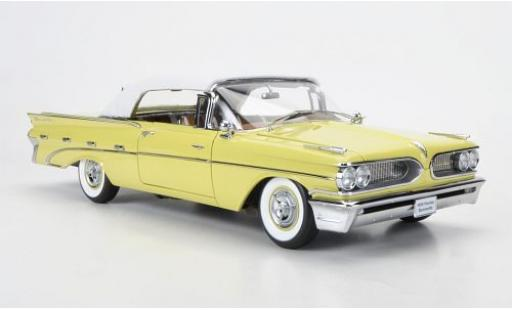 Pontiac Bonneville 1/18 Sun Star Convertible blanche/jaune 1959 fermé miniature