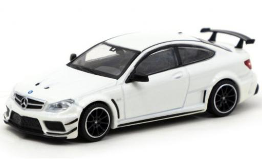 Mercedes Classe C 1/64 Tarmac Works C 63 AMG Coupe Black Series (C205) metallise blanche Lamley Group Special Edition miniature