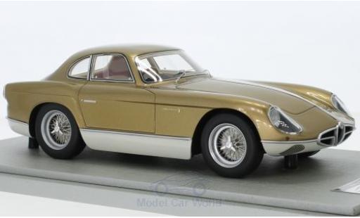 Alfa Romeo 2000 1/18 Tecnomodel Sportiva Bertone metallic-dunkelbeige/beige RHD 1954 miniature