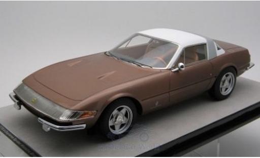 Ferrari 365 1/18 Tecnomodel GTB/4 Daytona Coupe Speciale metallise bronze/blanche 1969 miniature