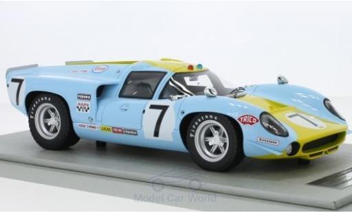 Lola T70 1968 1/18 Tecnomodel MK3 RHD No.7 24h Le Mans S.Axelsson/U.Norinder coche miniatura