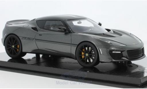 Lotus Evora S 1/18 Tecnomodel 410 metallic-grise 2017 miniature