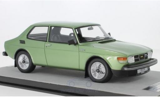 Saab 99 1/18 Tecnomodel Turbo metallise verte 1979 miniature