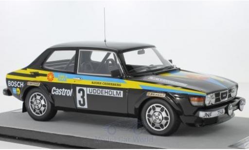 Saab 99 1/18 Tecnomodel Turbo No.3 Rallye WM Rallye Schweden 1979 S.Blomqvist/B.Cederberg miniature