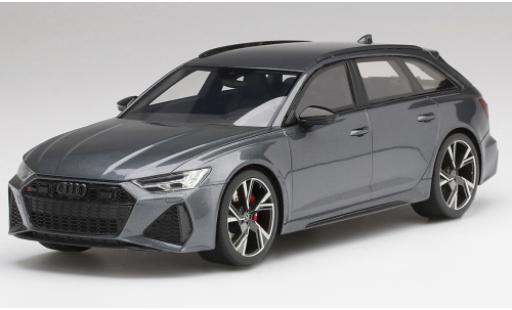 Audi RS6 1/18 Top Speed Avant Carbon Black Edition grise/noire miniature