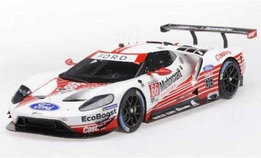 Ford GT 1/18 Top Speed No.66 Chip Ganassi Team USA Motorcraft 24h Daytona 2019 S.Bourdais/J.Hand/H.Müller miniature