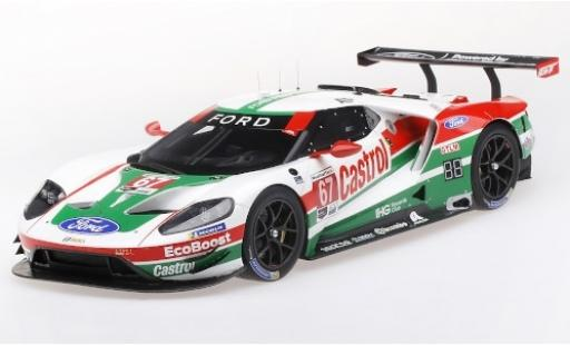 Ford GT 1/18 Top Speed No.67 Chip Ganassi Team USA Castrol 24h Daytona 2019 R.Briscoe/S.Dixon/R.Westbrook miniature