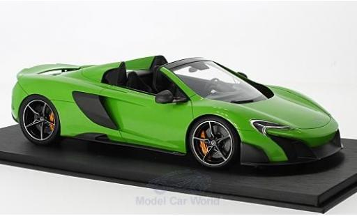 McLaren 675 1/18 Top Speed LT Spider green 2016 diecast model cars