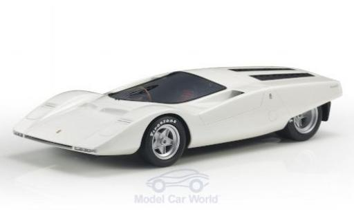 Ferrari 512 1/18 Topmarques Collectibles S Berlinetta Concept metallise blanche RHD 1969 miniature