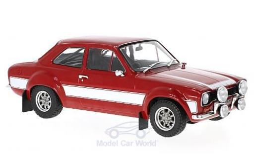 Ford Escort 1/18 Triple 9 Collection MK I rojo/blanco coche miniatura