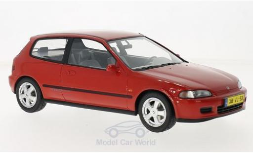 Honda Civic 1/18 Triple 9 Collection VTi Hatchback rouge 1992 ohne Vitrine miniature