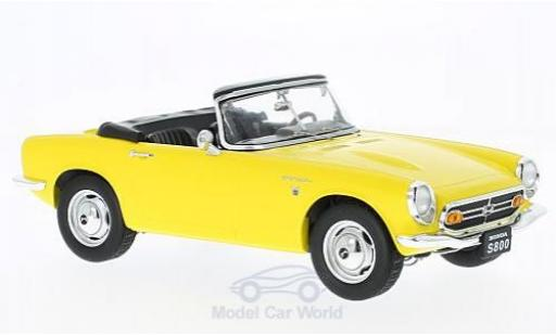 Honda S800 1/18 Triple 9 Collection Cabrio jaune 1966 ohne Vitrine miniature