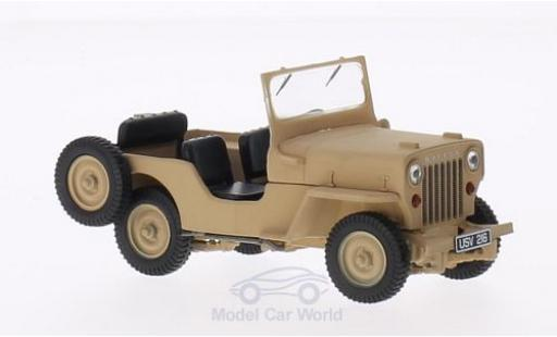 Jeep Willys 1/43 Triple 9 Collection CJ3B matt-beige 1953 miniature