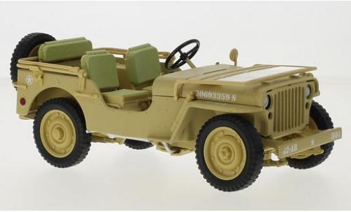 Jeep Willys 1/18 Triple 9 Collection matt-beige/blanche U.S. Army 1943 Casablanca miniature