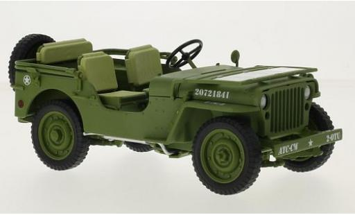 Jeep Willys 1/18 Triple 9 Collection matt-oliv/blanche U.S. Army - Military Police 1941 miniature