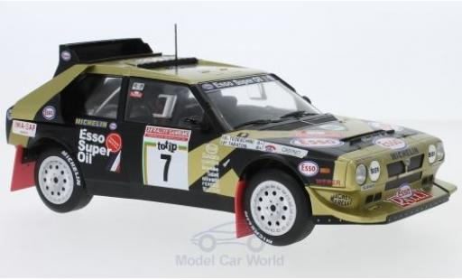 Lancia Delta S4 1/18 Triple 9 Collection S4 No.7 Esso Rallye WM Rallye Sanremo 1986 F.Tabaton/L.Tedeschini miniature