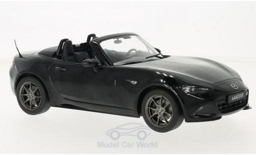 Mazda MX5 1/18 Triple 9 Collection noire 2015 mit abnehmbarem Softtop ohne Vitrine miniature