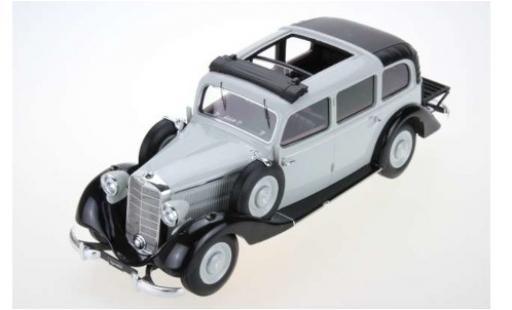 Mercedes 260 1/18 Triple 9 Collection D (W138) Pullman Landaulet grise/noire 1936 ouverts/es Dachverdeck miniature
