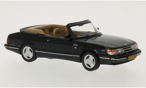 Saab 900 1/43 Triple 9 Collection Cabriolet noire 1991 miniature