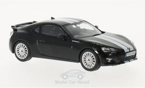 Subaru BRZ 1/43 Triple 9 Collection schwarz/weiss 2014 modellautos