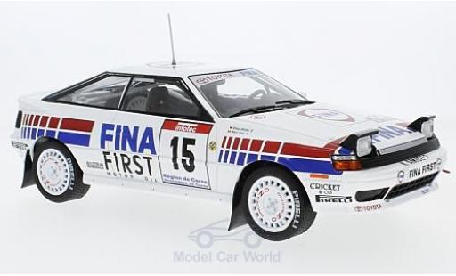 Toyota Celica 1/18 Triple 9 Collection GT-4 (ST 165) No.15 Team Europe Fina Rallye Tour de Corse 1991 M.Duez/K.Wicha miniature