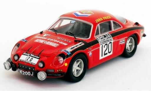 Alpine A110 1/43 Trofeu Renault No.120 Rallye WM RAC Rally 1972 J.Price/M.Turner diecast model cars