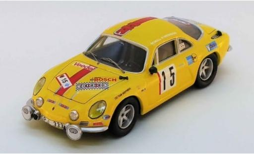 Alpine A110 1/43 Trofeu Renault No.15 Olympia Rallye 1972 H.Schuller/H.Weidmann modellino in miniatura