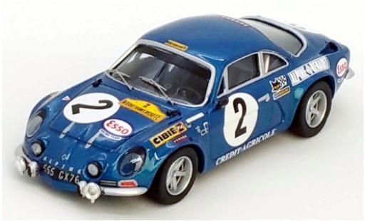 Alpine A110 1/43 Trofeu Renault No.2 Marathon de la Route 1971 J-L.Therier/J.Henry/M.Nusbaumer diecast model cars