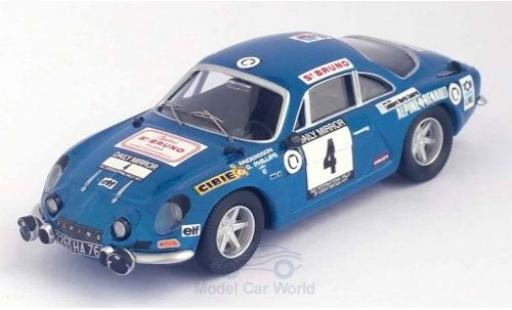 Alpine A110 1/43 Trofeu Renault No.4 RAC Rallye 1971 O.Andersson/G.Phillips diecast model cars