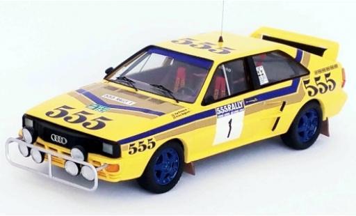 Audi Quattro 1/43 Trofeu quattro No.1 555 Rallye Hong Kong - Peking 1986 S.Blomqvist/B.Berglund miniature