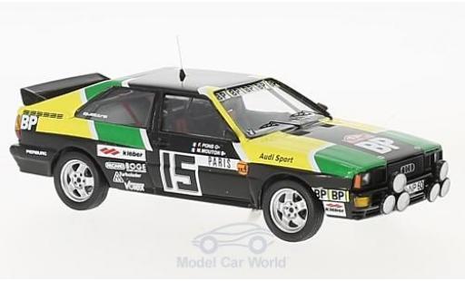 Audi Quattro 1/43 Trofeu quattro No.15 BP Rallye WM Rallye Monte Carlo 1981 M.Mouton/A.Arrii miniature